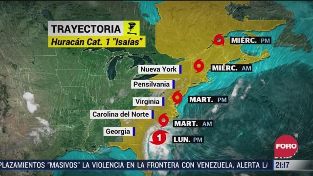 costa este de eeuu en alerta por huracan isaias