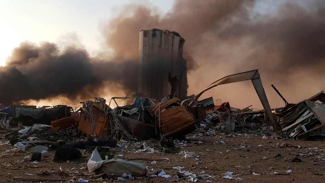 daños por explosiones en libano