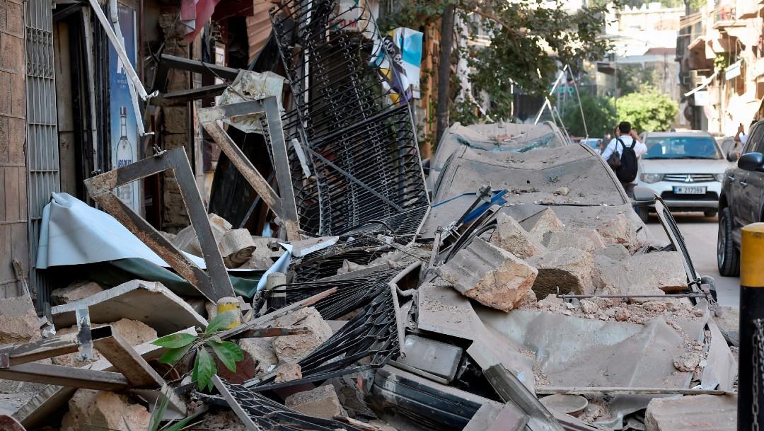 Daños y destrozos en Beirut tras explosión