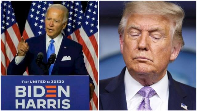 Joe Biden, Donald Trump, debates, collage
