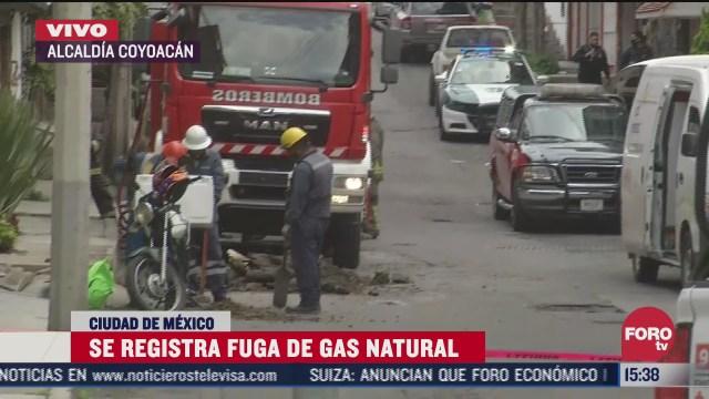 desalojan a vecinos tras fuga de gas natural en la alcaldia coyoacan