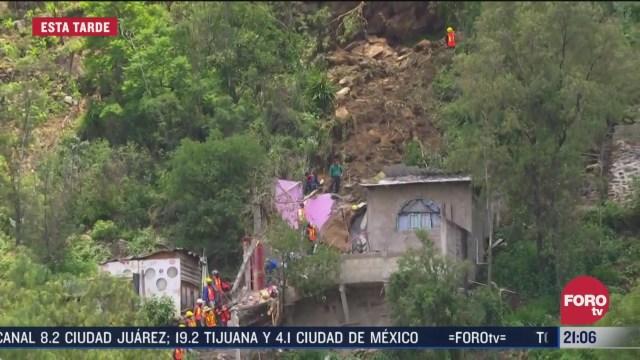 deslave en colonia de xochimilco afecto unas 70 casas