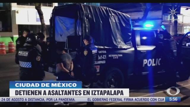 detienen a banda de asaltantes de transporte publico en iztapalapa cdmx