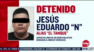 FOTO: 2 de agosto 2020, detienen a jesus eduardo n alias el tanque en edomex