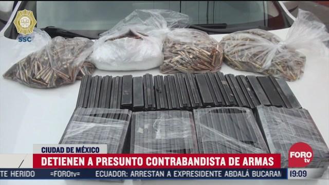 detuvieron a un hombre, presunto contrabandista de armas en la cDMX