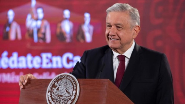 El presiddente de México, Andrés Manuel López Obrador, en conferencia matutina, 13 de agosto