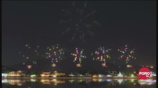 espectaculo de fuegos artificiales de los olimpicos de tokio la paparrucha del dia