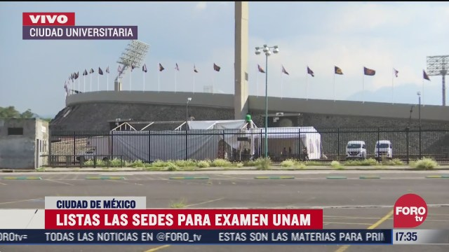 estadio olimpico universitario listo para examen de la unam