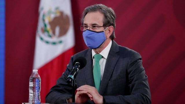 Esteban Moctezuma, titular de la SEP, en conferencia de prensa.