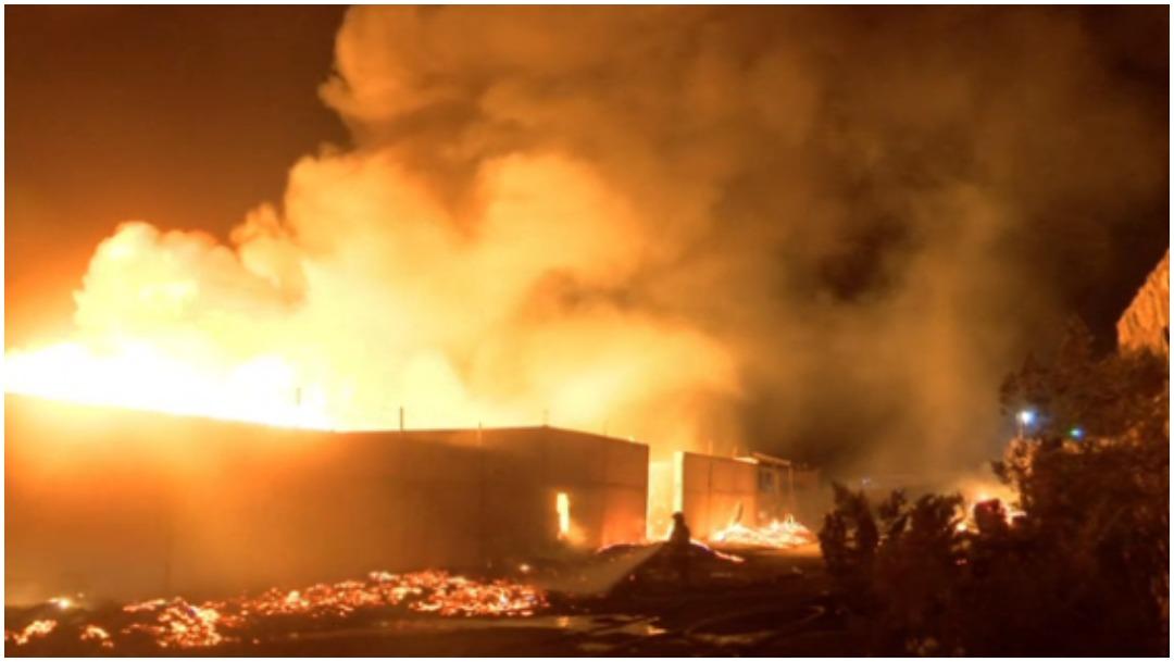 Incendio fábrica madera
