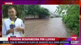fuertes lluvias en oaxaca dejan un muerto y varias familias afectadas