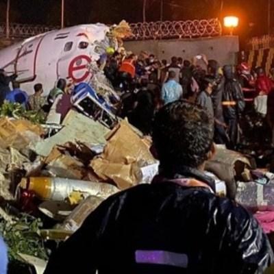 Suman 17 muertos y cientos de heridos por accidente de avión en India