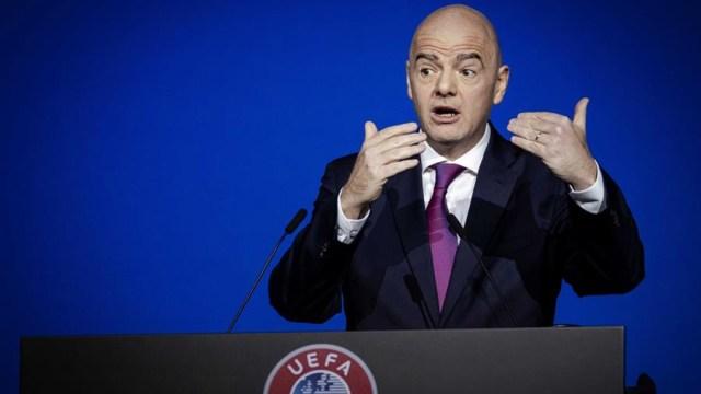 Conferencia de la FIFA con su presidente Gianni Infantino