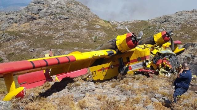 Un hidroavión portugués se estrelló el sábado en España mientras combatía un incendio