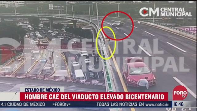 hombre cae de viaducto elevado bicentenario tras ser atropellado