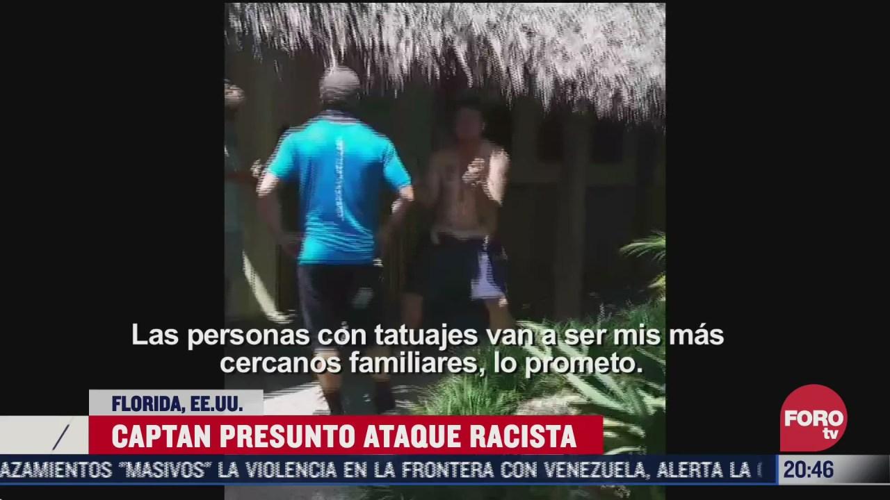 hombre golpea a mujer durante presunto ataque racista en eeuu