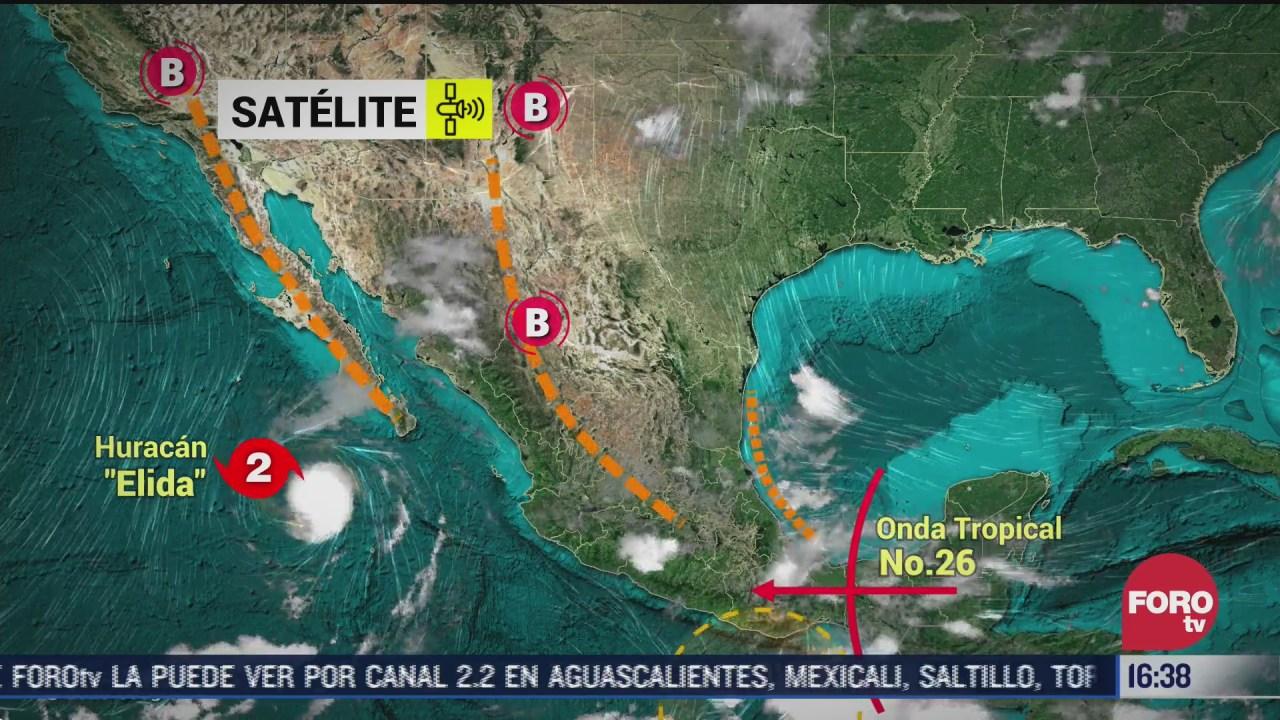 huracan elida provocara lluvia en las proximas horas proteccion civil