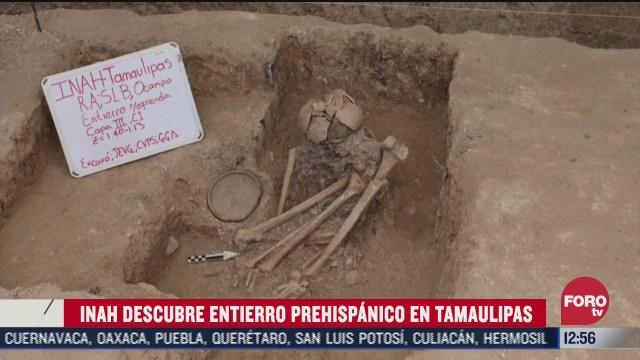inah descubre entierro prehispanico en tamaulipas