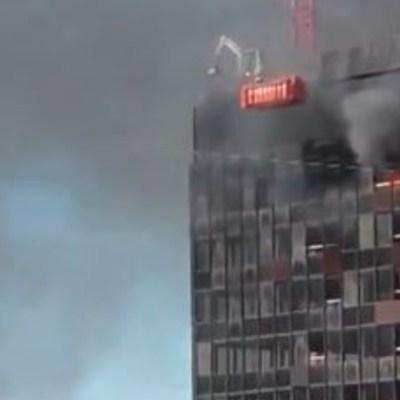 Incendio en el WTC de Bruselas