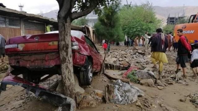 Inundaciones y deslaves en Kabul, Afganistán, dejan al menos 70 muertos