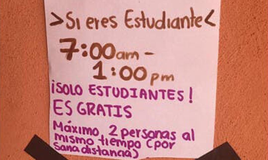 La joven de Yucatán recibió el apoyo de su familia para poder ofrecer el internet a sus estudiantes
