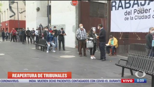 largas filas se registran en los juzgados de la ciudad de mexico