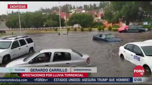 lluvias torrenciales deja afectaciones en zacatecas