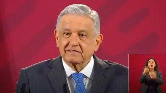 López Obrador en conferencia de prensa Palacio Nacional, México