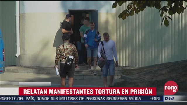 manifestantes de bielorrusia relatan tortura en prision