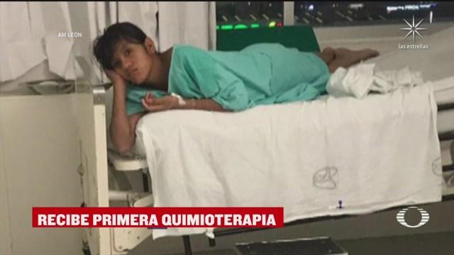 maribel recibe primera quimioterapia en clinica del imss en guanajuato