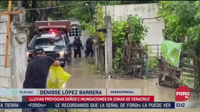 mas de cuatro mil personas afectadas por lluvias en veracruz