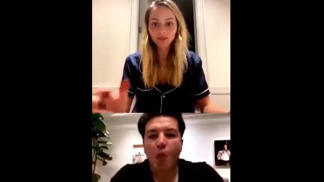 Captura de pantalla senador Samuel Garcia y Mariana Rodriguez