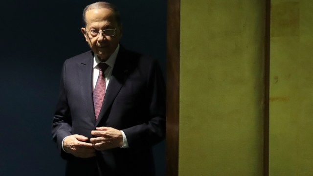 Fotografía del presidente libanés Michel Aoun
