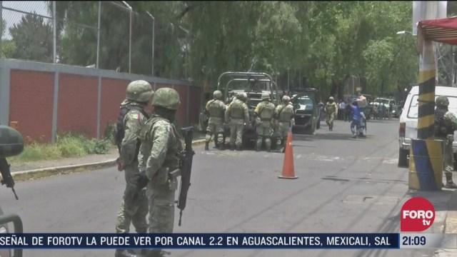 militares aseguran toma clandestina en bodega de tlalnepantla
