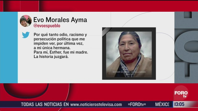 muere esther morales hermana de evo