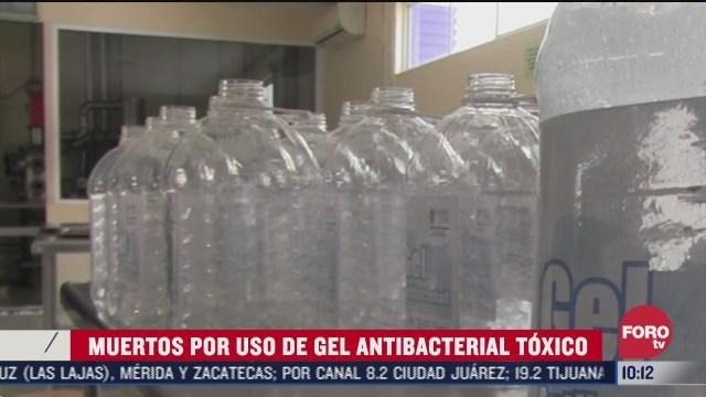 FOTO: 8 de agosto 2020, muertos por uso de gel antibacterial toxico