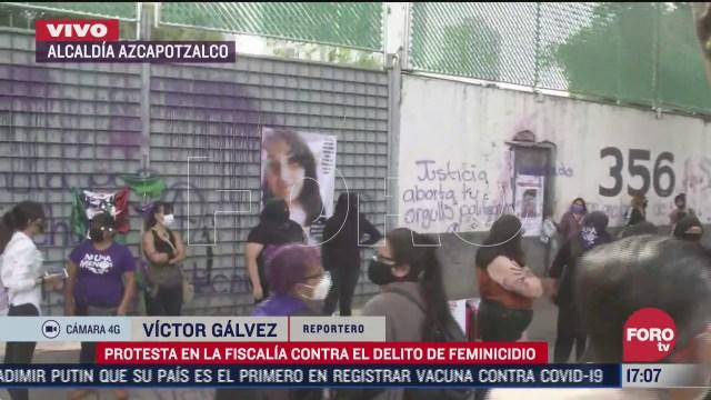 mujeres protestan en la fiscalia de cdmx contra feminicidio