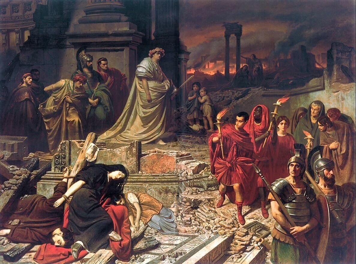 muerte, Nerón, incendio, Roma