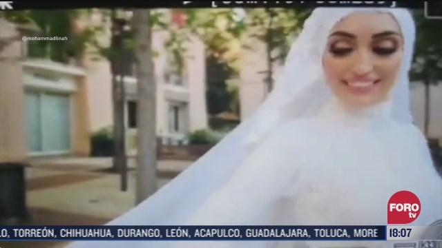 novia fue sorprendida por explosion en beirut