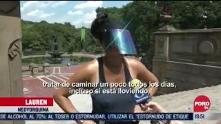 FOTO: 1 de agosto 2020, pandemia de covid 19 se refleja en el central park en nueva york