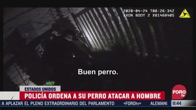 policia ordena a su perro atacar a un hombre en eeuu