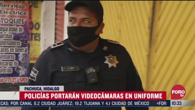 policias en pachuca portaran una camara en su uniforme