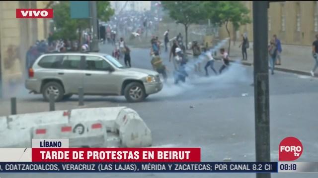 FOTO: 8 de agosto 2020, protestas en beirut tras gran explosion