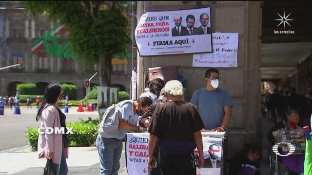 recolectan firmas para que ciudadanos decidan consulta sobre juicio a expresidentes