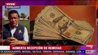remesas reportan un incremento en guanajuato