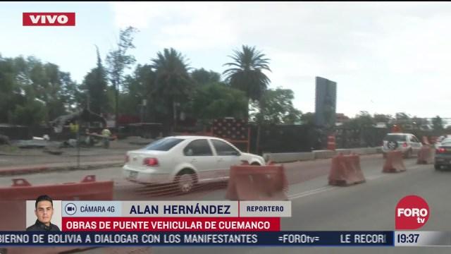 caos vial por la construcción de un puente en la zona de Cuemanco