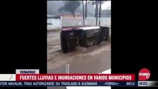 reportan lluvias intensas en varios estados del pais