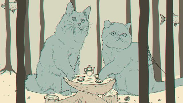Encuentra los 4 animales y el ojo escondido en el reto visual, ilustración