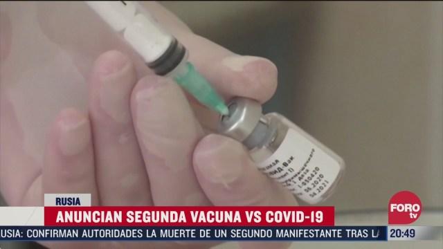 rusia anuncia segunda vacuna contra el covid