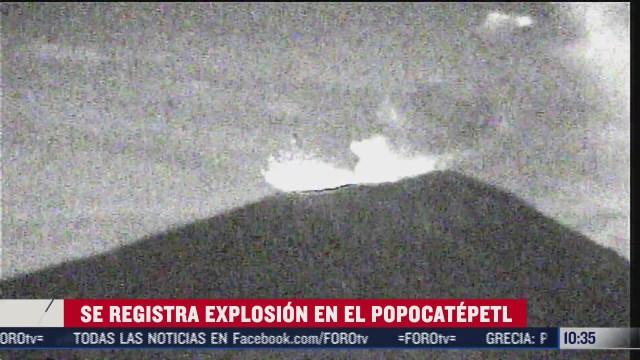 se registra explosion en el volcan popocatepetl